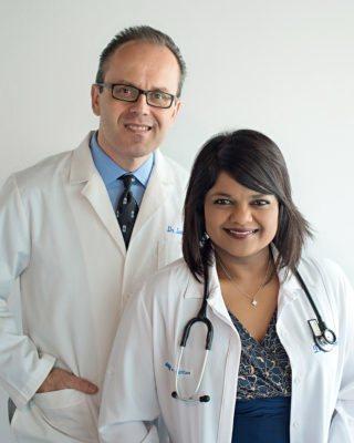 Dr. Jelin Isreal-Cvik and Dr. Ivan Cvik
